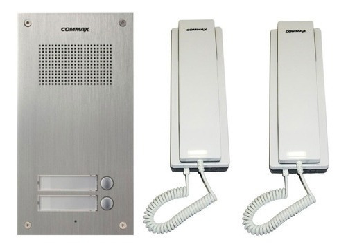 Portero Electrico Commax 2 Telefono + Frente 2um + Fuente