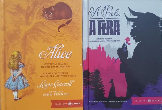 A Bela E A Fera + Alice - Zahar 2 Livros De Luxo Capa Dura