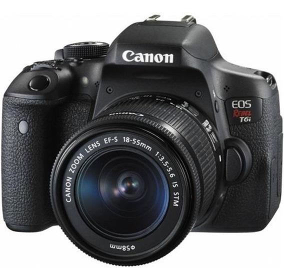 Câmera Canon Rebel T6i C/ 18-55mm
