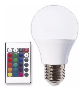 Lampara Led Rgb 4w Control Remoto 16 Colores