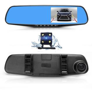 Camara Espejo Retrovisor 1080p Dash Cam Auto Carro Vehiculo