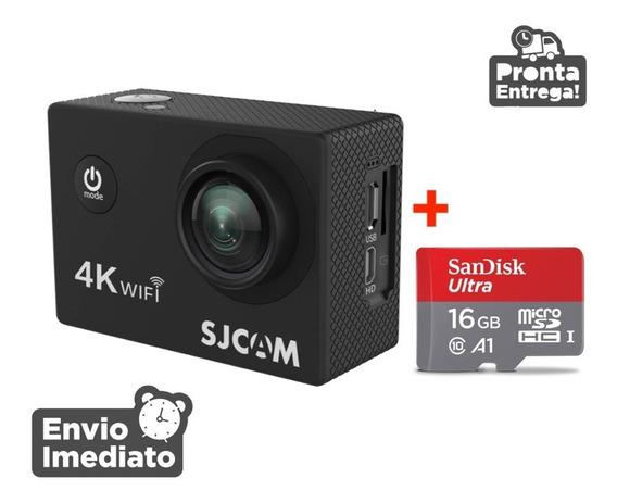 Camera Sjcam Sj4000 1080p Full Hd Filma Gopro Prova Água 4k