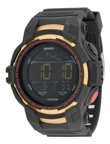 Relógio Speedo Masculino Digital Preto Sport Life Style