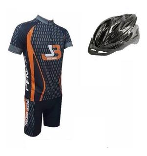 Conjunto Carbono Camisa+bermuda+capacete