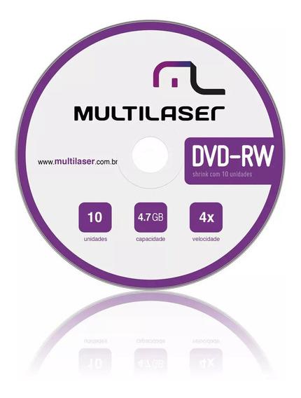 Dvd-rw Multilaser Com 10 Unidades