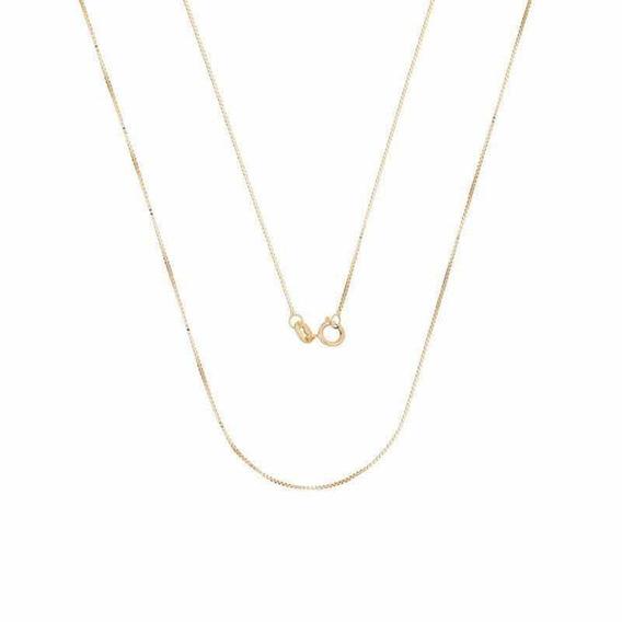 Corrente Ouro 18k Veneziana 40cm