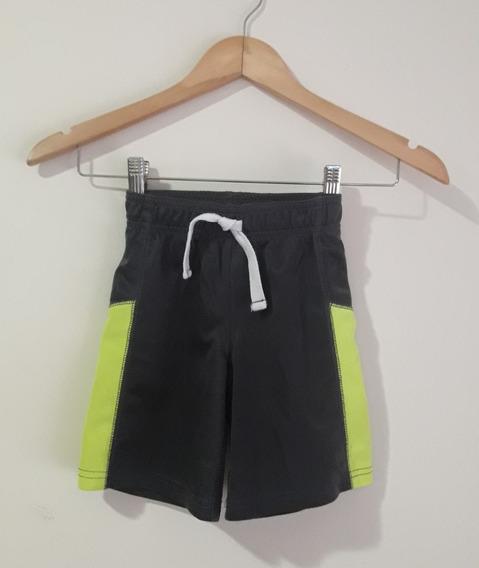 Pantalón Corto Short Carter´s Niño Gris Y Amarillo Flúo T 3t