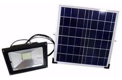 Refletor Holofote Led C/ Painel Solar 50w C/controle Remoto