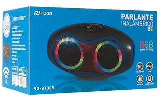 Parlante Portatil Inalambrico Bluetooth Luces Rgb Noga Bt305