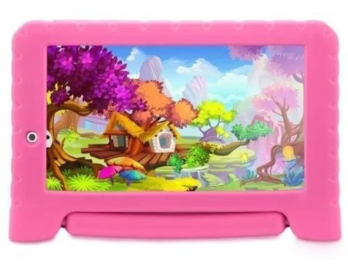 Tablet Infantil Jogos Rosa Wifi Bluetooth Case Rosa Tela 7