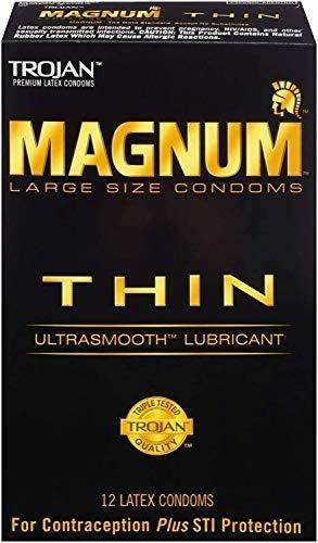 Magnum Troyano Preservativos Lubricantes Ultra Suaves Delga