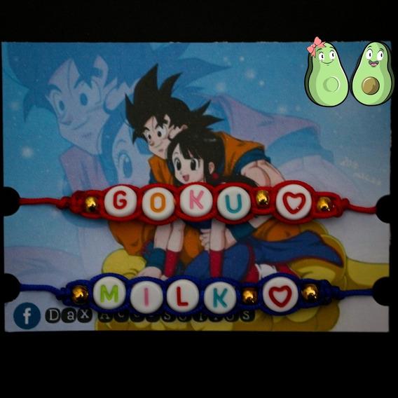 Pulseras Moda Goku Y Milk