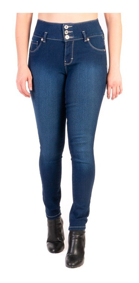 Jeans Stretch De Mujer Corte Colombiano Triple Pinza Push Up