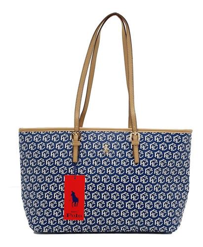 Imagen 1 de 6 de Bolsa Hpc Polo Tote Signature Azul Marino