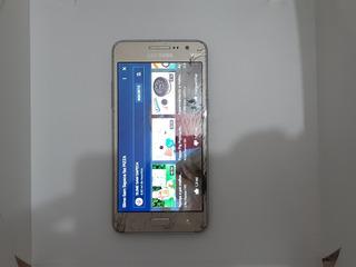 Samsung Gran Prime Duos Dourado Trincado