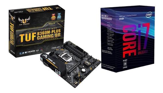 Kit Placa Mãe Asus Tuf B360m-plus Gaming/br + Cpu I7-8700k