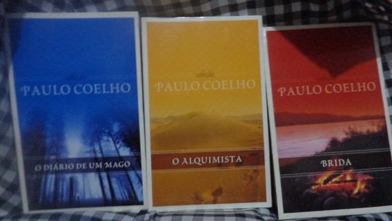 3 Livros Coleção Paulo Coelho Diário Mago; Alquimista; Brida