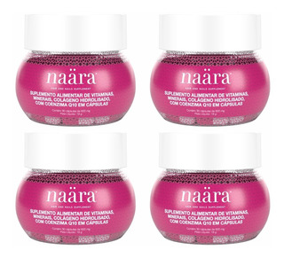 Kit 4 Potes Naara Hair And Nails - Com Nota Fiscal