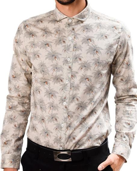 Camisa Con Palmeras