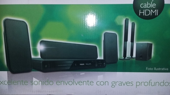 Home Theater Philips 5.1 Canais 1200w Rms Dvd Karaokê Divx