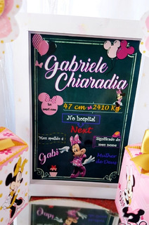 Chalkboard Personalizado Minnie Mouse