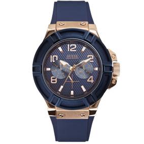 Relógio Masculino Guess 92479gpgsru6 Azul 10atm