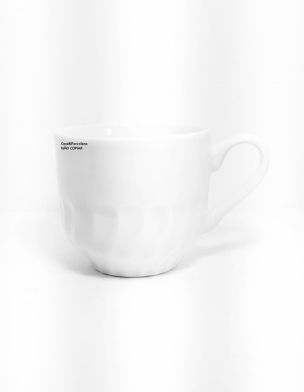 Kit 10 Xicaras Chá Paulista 250ml Porcelana 1ºlinha Branco