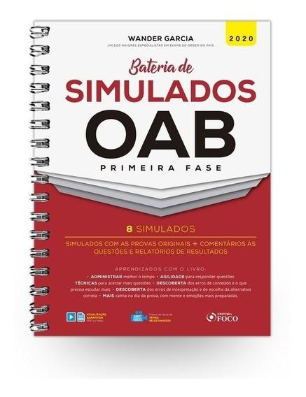 Bateria De Simulados Oab 1ª Fase - 1ª Ed - 2020 - Novo