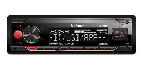 Radio Carro Bluetooth Usb Desmontable 7 Colores App Android