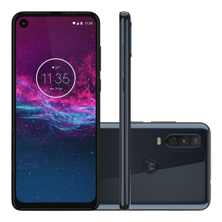 Smartphone Motorola One Action 128gb Tela 6.3 Câmera Tripla 16mp Selfie 12mp Android 9.0 Pie Anatel