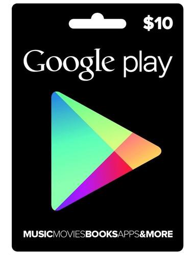 Google Play Card Saldo Recarga Gift Apps Juegos Libros Music