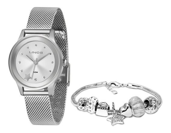 Relógio Feminino Lince Com Pulseira Prata Lrmh122l Kx05s1sx