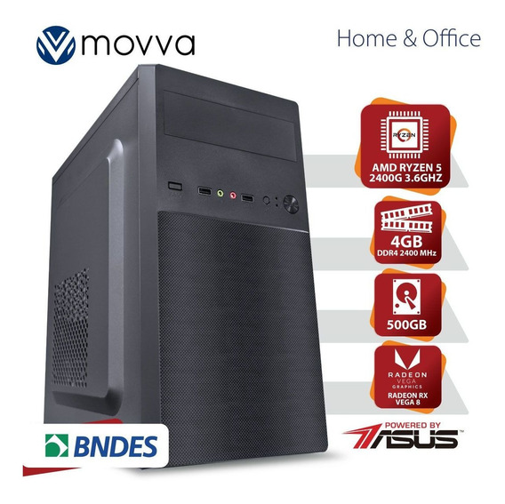 Computador Amd Ryzen 5 4gb Hd500gb Linux-grafico Rx Vega 11