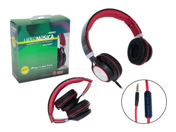 Fone De Ouvido Headphone Gamer Estéreo Com Microfone Hm-750