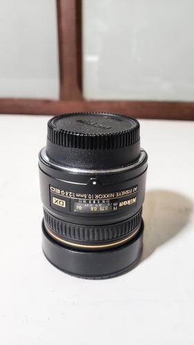 Lente Nikon Af Fisheye Nikkor 10.5mm F 2.8g Ed Dx