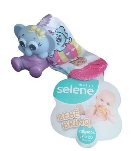Meia Bebê Brinquedo Com Mordedor Selene