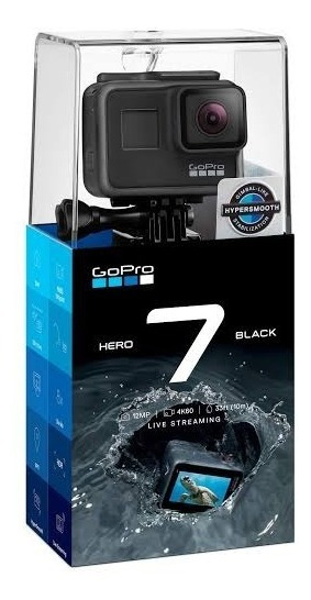 Câmera Gopro Hero7 Black Oficial Br + Cartão 16 Gb Memoria