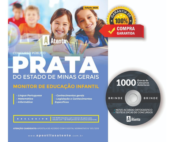 Apostila Prata - Mg - Monitor De Educação Infantil - 2020