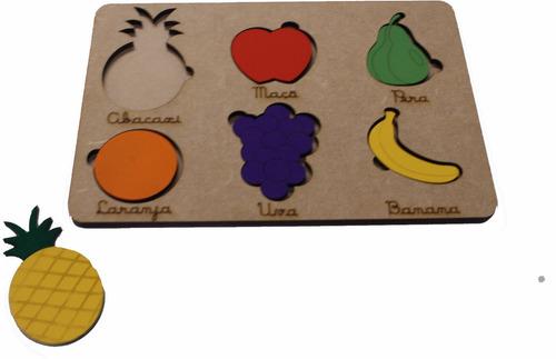 Tabuleiro Frutas Educativo Escolar Quebra Cabeça