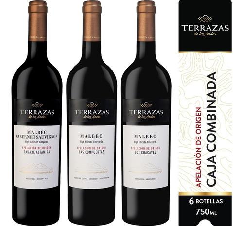 Imagen 1 de 7 de Vino Terrazas De Los Andes Apelación Caja Combinada 6ux750ml
