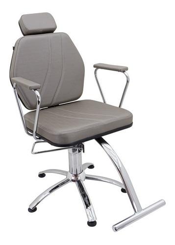 Imagem 1 de 8 de Poltrona Cadeira Fixa Hidráulica Móveis Para Salão De Beleza