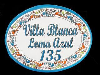 Numeros Residenciales Letrero Para Casa Ovalado G Talavera