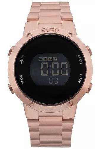 Relógio Euro Sabrina Sato Rose Gold Digital Eubj3279af/4j Nf