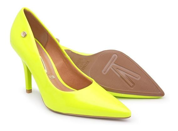 Sapato Scarpin Neon Vizzano Moda Fluor Salto 10cm Bico Fino