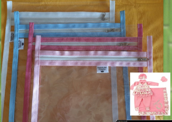 Kit 4 Saquinhos Maternidade Império 26×30(cores) Mala-viagem