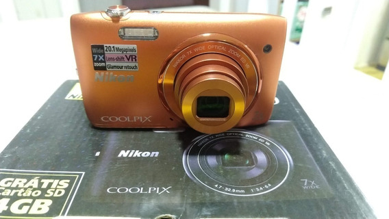 Câmera Digital Nikon 20.1 Megapixels + Cartão 8gb Acessórios