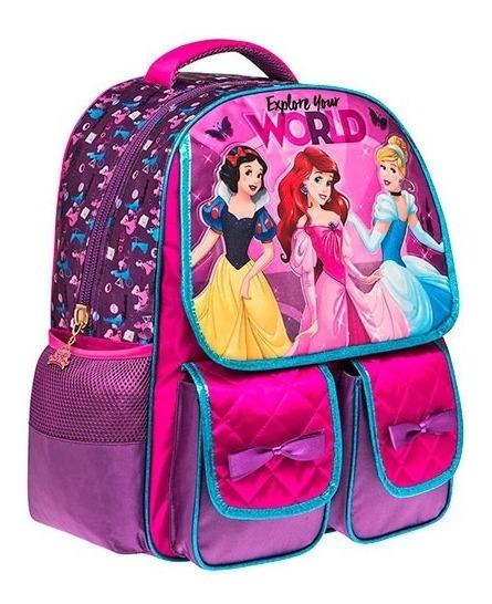Mochila Niña Ot19 Princesas Disney 89510 Envio Gratis