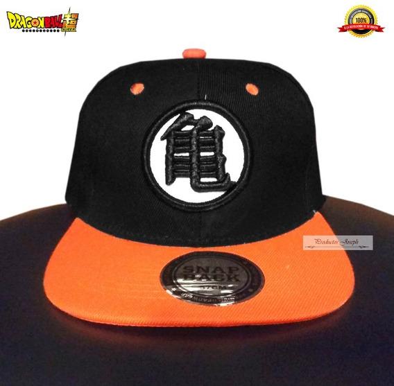 Gorra Dragon Ball Goku Edicion Black Super Logo Bordado