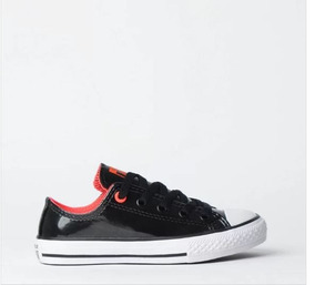 Tênis All Star Preto Verniz Ck06900001 Original C/nota