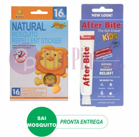 Pomada After Bite Kids + Adesivo Repelente Simba Xo Mosquito